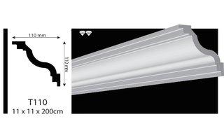 Vidella VT110 (110 x 110 mm), plafondlijst, sierlijst, lengte 2 m