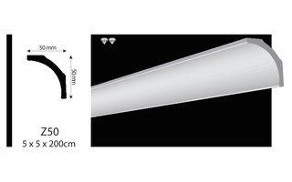 Vidella VZ50 (50 x 50 mm), plafondlijst, sierlijst, lengte 2 m