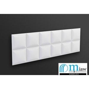 NMC 3D Wallpanel / Wandpaneel Square Polyurethaan (1135 x 380 x 30 mm)