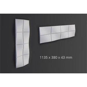 NMC 3D Wallpanel / Wandpaneel Bump Polyurethaan (1135 x 380 x 43 mm)