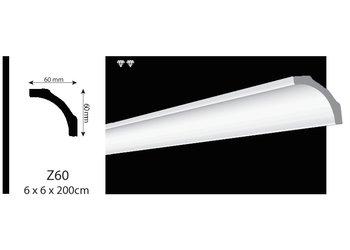 Vidella VZ60 (60 x 60 mm), plafondlijst, sierlijst, lengte 2 m