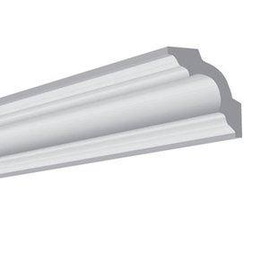 Vidella VG50 (50 x 50 mm), plafondlijst, sierlijst,  lengte 2 m