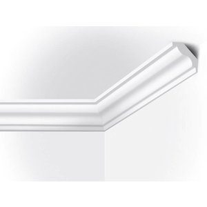 Vidella VI40 (40 x 45 mm), plafondlijst, sierlijst,  lengte 2 m