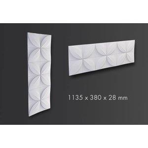 NMC 3D Wallpanel / Wandpaneel Flower Polyurethaan Flower (1135 x 380 x 28 mm) - 5 Wandpanelen