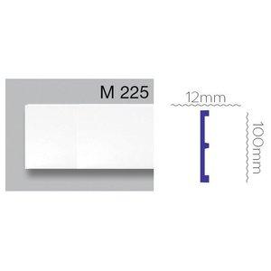 Grand Decor Platte plint CR956 / M225 (100 x 12 mm) polyurethaan, lengte 2 m