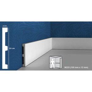 Grand Decor Platte plint M225 (100 x 12 mm) polyurethaan, lengte 2 m