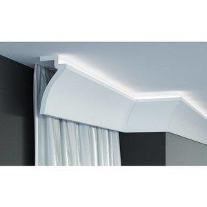 Grand Decor Gordijnprofiel Polyurethaan - LED sierlijst voor indirecte verlichting, KF801 (120 x 60 mm), lengte 2 m