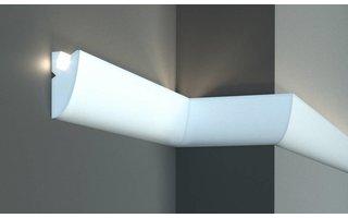 Tesori KD304 (95x45 mm), lengte 1,15 m, LED sierlijst voor indirecte verlichting XPS
