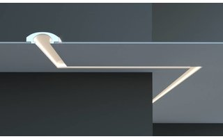 Tesori KD112 (165 x 60 mm), lengte 1,15 m, LED sierlijst voor indirecte verlichting XPS