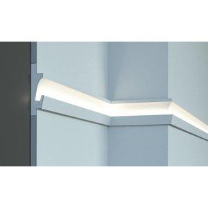Tesori LED sierlijst voor indirecte verlichting XPS, KD401 (125 x 35 mm), lengte 1,15 m - Verzonken / Semi-Verzonken