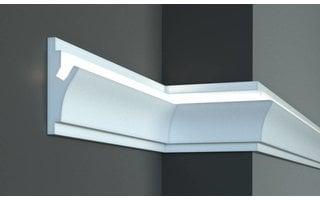 Tesori KD402 (150 x 55 mm), lengte 1,15 m, LED sierlijst voor indirecte verlichting XPS - Verzonken / Semi-Verzonken
