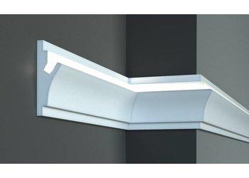 Tesori LED sierlijst voor indirecte verlichting XPS, KD402 (150 x 55 mm), lengte 1,15 m - Verzonken / Semi-Verzonken