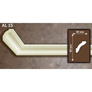 NMC Allegro AL15 (40 x 40 mm), sierlijst polyurethaan, lengte 2 m OP=OP