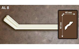 NMC Allegro AL8 (40 x40 mm), sierlijst polyurethaan, lengte 2 m OP = OP