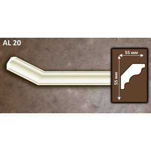 NMC Allegro AL20 (55 x 55 mm), sierlijst polyurethaan, lengte 2 m