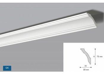 NMC NMC Kroonlijst Nomastyl GK+ (75 x 50 mm), lengte 2 m