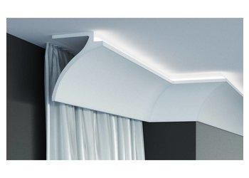 Grand Decor Gordijnprofiel Polyurethaan - LED sierlijst voor indirecte verlichting, KF801 (120 x 100 mm), lengte 2 m