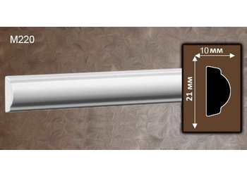 Grand Decor Kaderlijst M220 (21 x 10 mm), polyurethaan, lengte 2 m