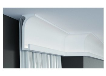 Grand Decor KF803 (150 x 60 mm), lengte 2 m, PU - LED sierlijst voor indirecte verlichting