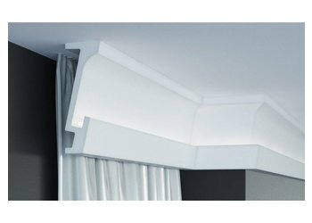 Grand Decor KF804 (160 x 70 mm), lengte 2 m, PU - Gordijnlijst LED lijst voor indirecte verlichting
