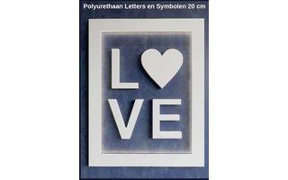 Art Décor 3D Letters Polyurethaan Alfabet en Symbolen 20 cm hoog