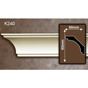 Grand Decor Kroonlijst K240 / P930 (60 x 60 mm), polyurethaan, lengte 2 m