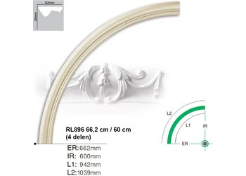 Grand Decor Rozet ring RL896 radius 66,2 cm / 60 cm (4 delen)