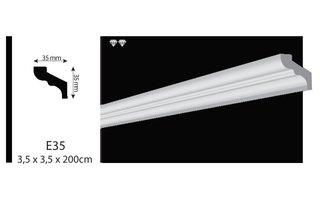 Vidella VE35 (35 x 35mm), plafondlijst, sierlijst,  lengte 2 m OP=OP