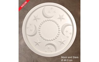 Grand Decor Rozet kinderkamer MOON AND STARS diameter 46,0 cm