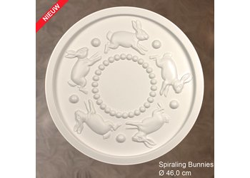 Grand Decor Rozet SPIRALING BUNNIES diameter 46,0 cm babykamer / kinderkamer