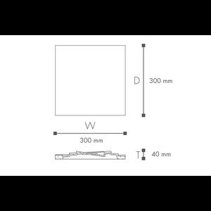 NMC Decoflair B22 / Nomastyl CS3 Rozet 3D (30 x 30 cm)
