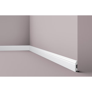 NMC Wallstyl FB1F (60 x 13 mm), lengte 2 m afgelakt met RAL9016 (wit)