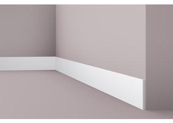 NMC Platte Plint Wallstyl / Floorstyl FL9 (100 x 8 mm), lengte 2 m (NMC Sierlijst Primo, WS18)