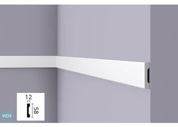 NMC Wallstyl WD4 (58 x 12 mm), lengte 2 m (NMC Deurlijst Ugo)