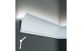 Grand Decor KF704 (100 x 50 mm), lengte 2 m, PU - LED sierlijst voor indirecte verlichting