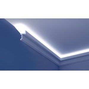 Grand Decor Polyurethaan - LED sierlijst voor indirecte verlichting, KF705 (111 x 60 mm), lengte 2 m