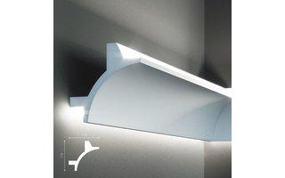 Grand Decor KF706 (115 x 115 mm), lengte 2 m, PU - LED sierlijst voor indirecte verlichting