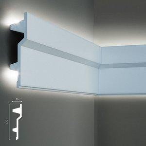 Grand Decor Polyurethaan - LED sierlijst voor indirecte verlichting, KF707 (179 x 45 mm), lengte 2 m