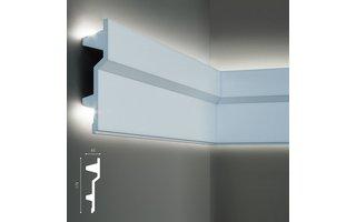 Grand Decor KF707 (179 x 45 mm), lengte 2 m, PU - LED sierlijst voor indirecte verlichting