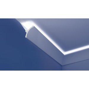 Grand Decor Polyurethaan - LED sierlijst voor indirecte verlichting, KF708 (140 x 106 mm), lengte 2 m