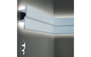 Grand Decor KF709 (150 x 40 mm), lengte 2 m, PU - LED sierlijst voor indirecte verlichting,