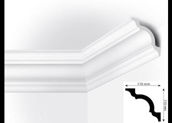Vidella VS110 (110 x 110 mm), plafondlijst, sierlijst, lengte 2 m