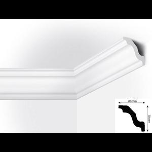 Vidella VW70 (70 x 70 mm), plafondlijst, sierlijst, lengte 2 m