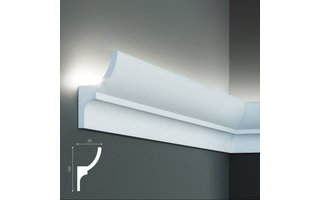 Grand Decor KF712 (100 x 55 mm), lengte 2 m, PU - LED sierlijst voor indirecte verlichting