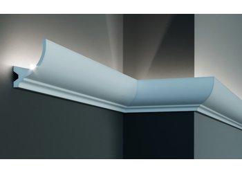 Grand Decor Polyurethaan - LED sierlijst voor indirecte verlichting, KF715 (84 x 67 mm), lengte 2 m
