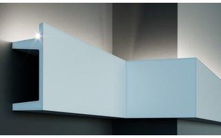 Grand Decor KF722 (201 x 80 mm), lengte 2 m, PU - LED sierlijst voor indirecte / directe verlichting