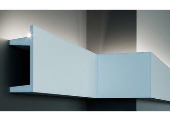 Grand Decor Polyurethaan - LED sierlijst voor indirecte / directe verlichting, KF722 (201 x 80 mm), lengte 2 m