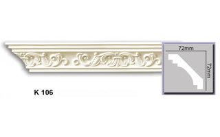 Grand Decor Kroonlijst K106 (72 x 72 mm), polyurethaan, lengte 2 m