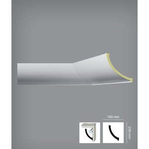 Bovelacci Classicstyl C3217 (20 x 15 cm) Kroonlijst Indirecte Verlichting