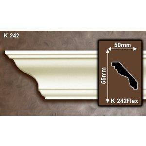Grand Decor Plafondlijst K242 (55 x 50 mm), polyurethaan, lengte 2 m